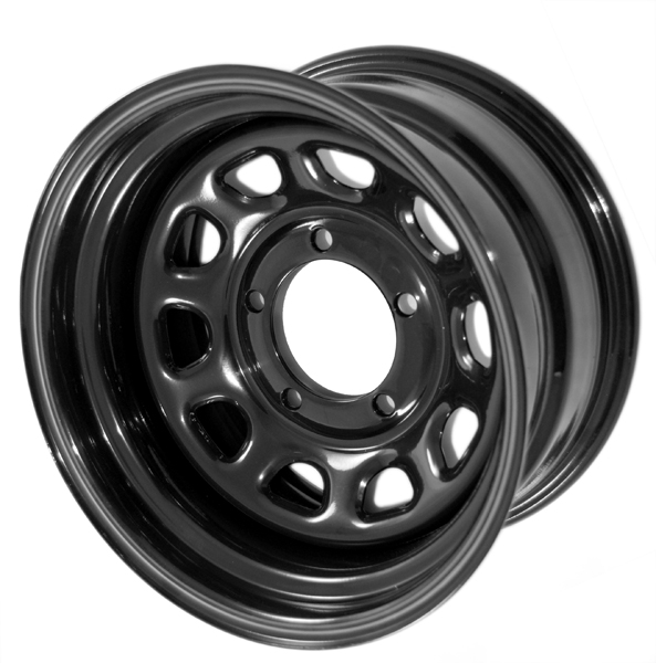 Black Steel Wheels 15x10 5ON4 5 Jeep Wrangler Cherokee XJ More Set of